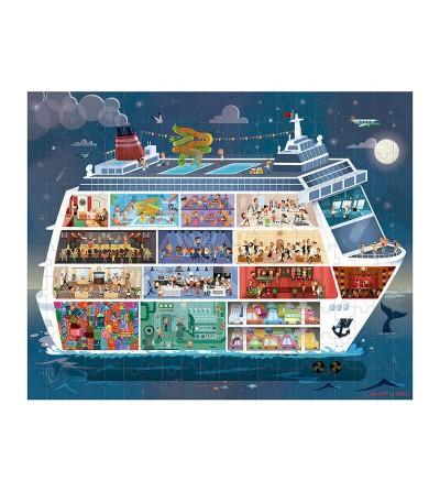 puzzle barco crucero noche