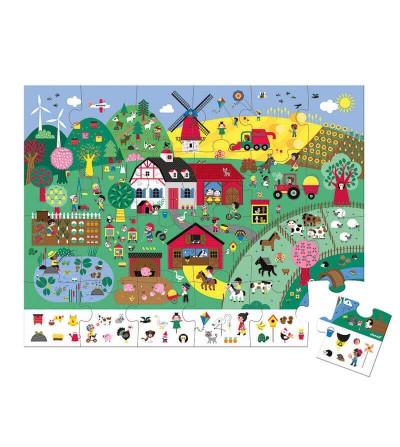 puzzle de observacion la granja