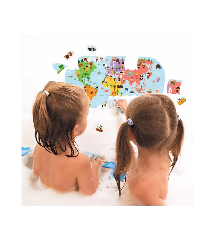 mapa del mundo de baño janod