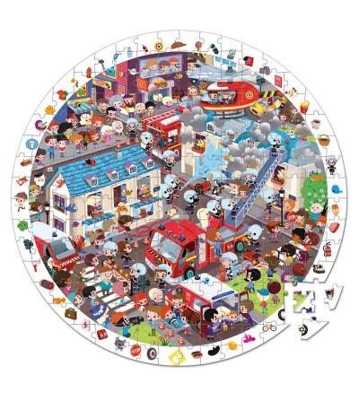 puzzle de observacion los bomberos
