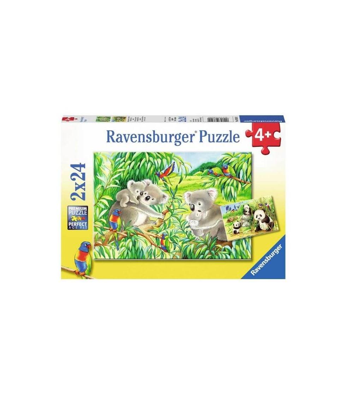 puzzle koalas pandas ravensburger