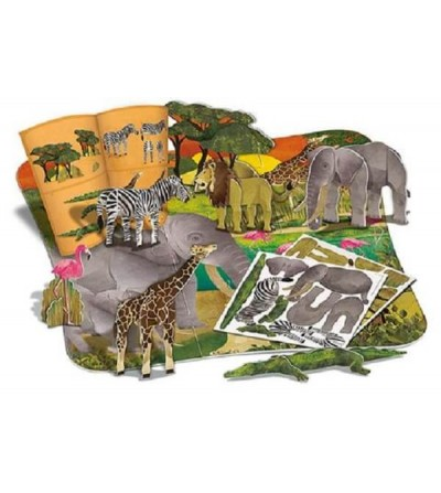puzzle 3D animales salvajes contenido