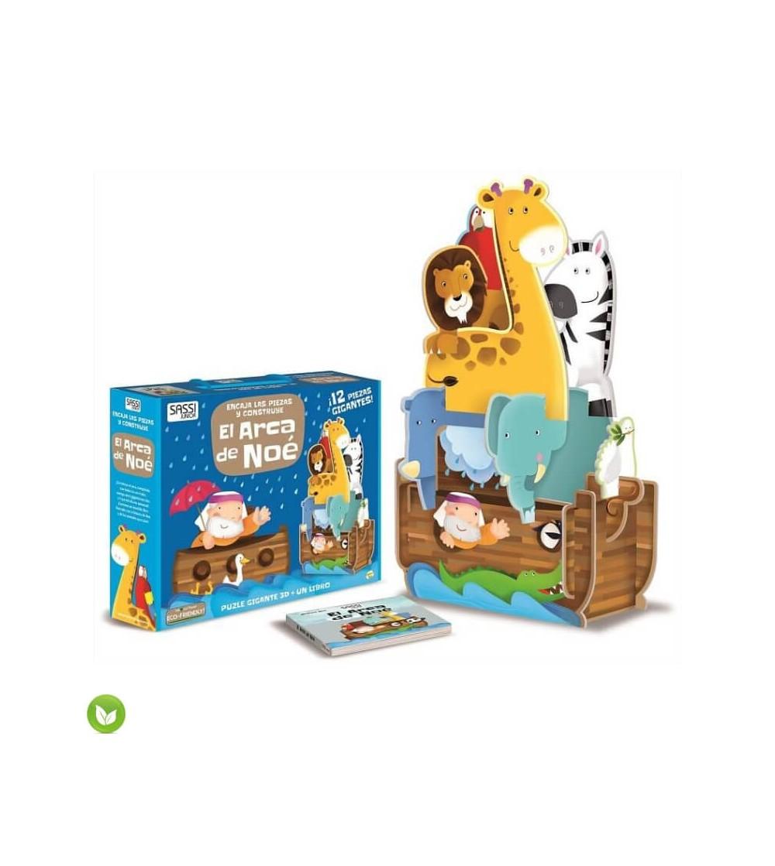 el arca de noe puzzle 3d juguete ecologico