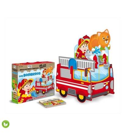 puzzle los bomberos 3D juguete ecologico