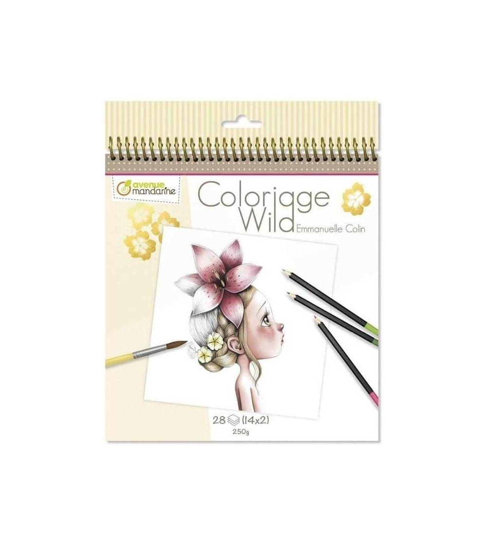 cuaderno colorear wild avenue mandarine 1
