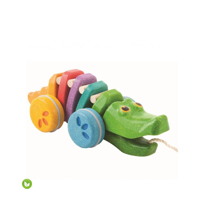 arrastre cocodrilo colores plantoys