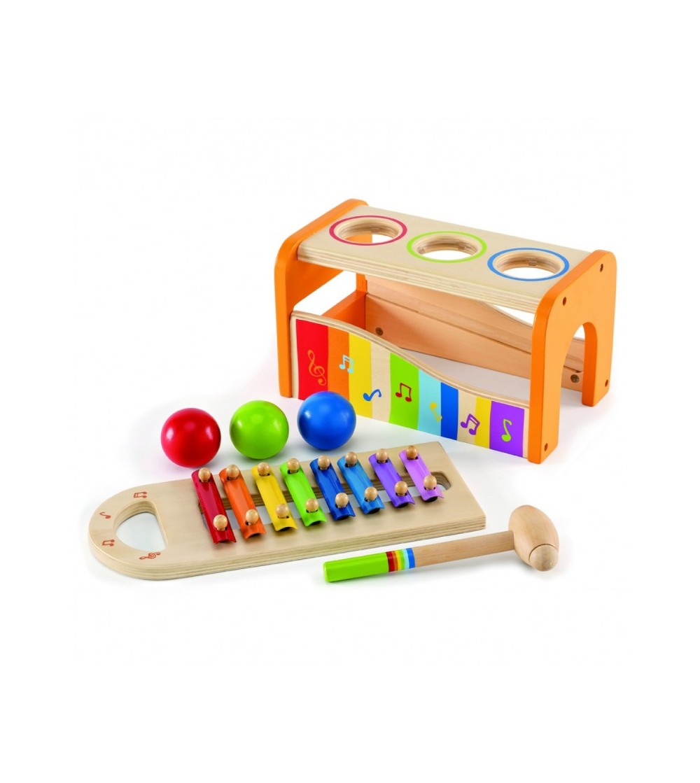 juguete madera picafuerte xilofono hape