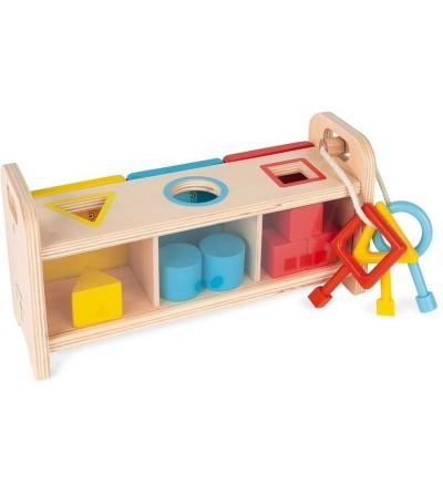 juego caja con llaves janod trasera