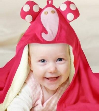 toalla capa elefante bebe