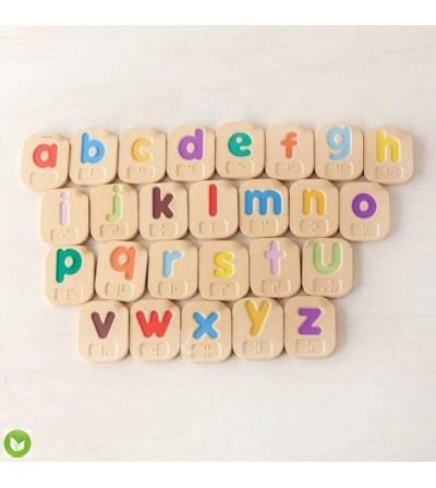 letras minusculas braille