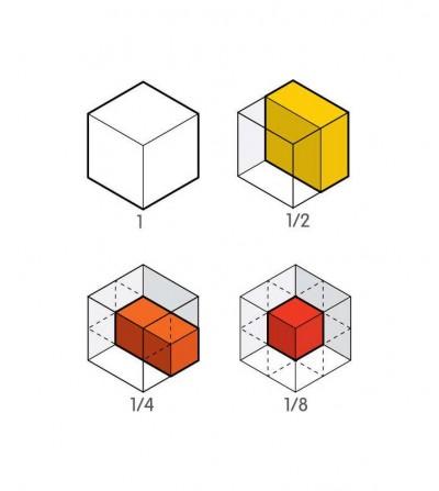 como jugar cubos fracciones