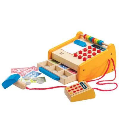 juguete madera caja registradora