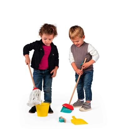 como jugar set de limpieza