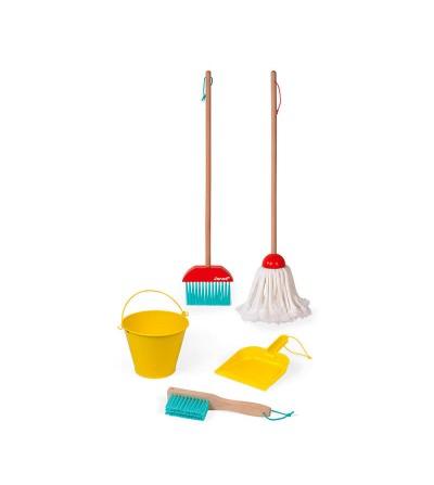 contenido juego set de limpieza