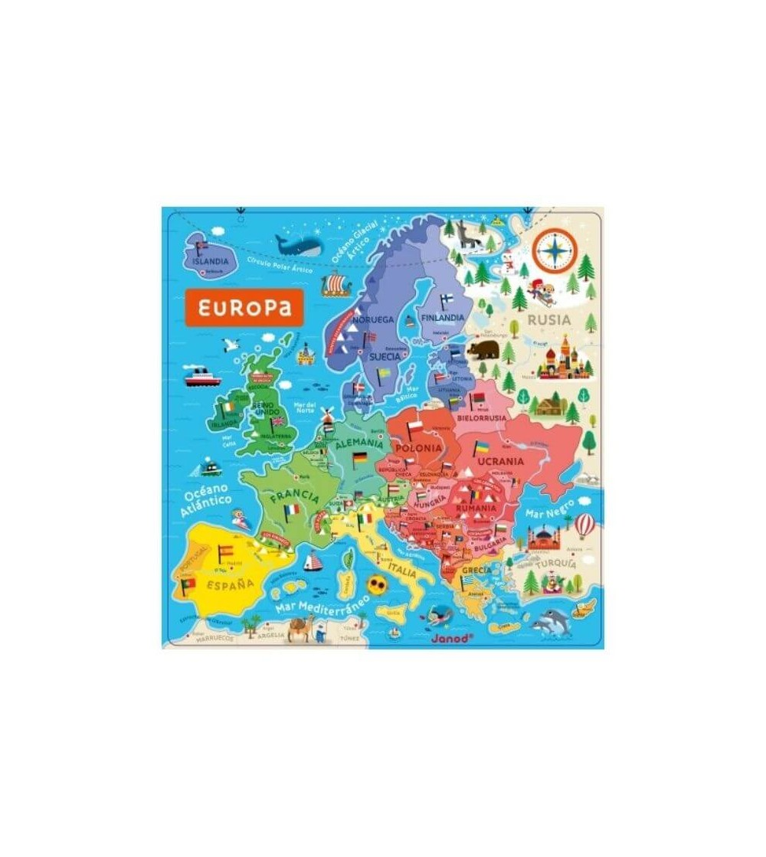 puzzle mapa europa magnetico janod
