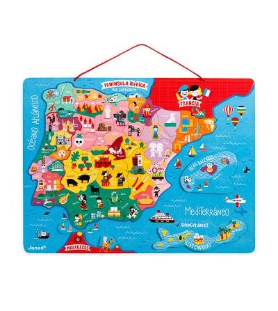 puzzle mapa españa magnetico janod