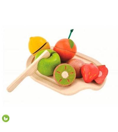 surtido frutas juguetes ecologicos plantoys
