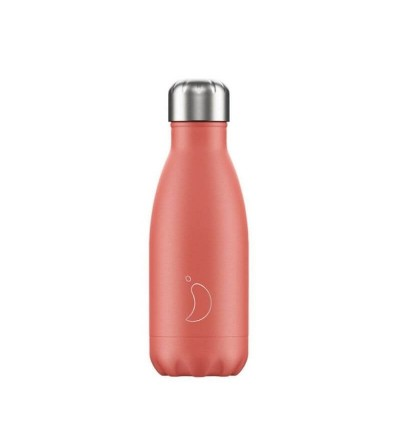 botella chilly coral pastel