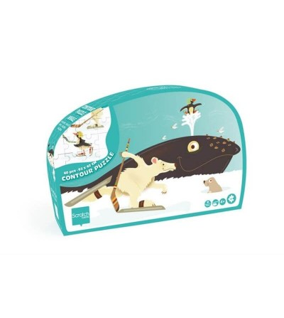caja puzzle scratch ballena
