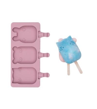 moldes silicona helados rosa