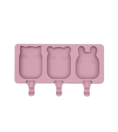 moldes helados silicona rosa empolvado