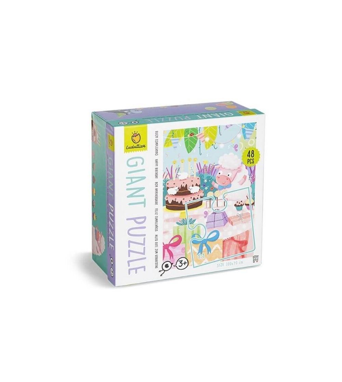 puzzle gigante feliz cumpleaños ludattica