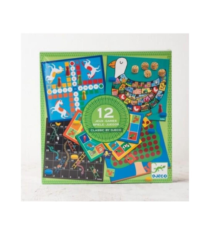 12 juegos clasicos con diseño infantil djeco