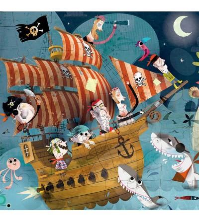 poster puzzle los piratas janod
