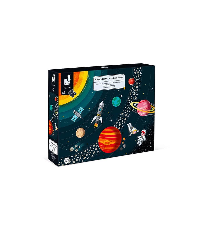 puzzle educativo sistema solar 100 piezas janod