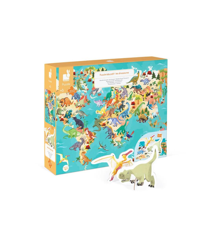 puzzle educativo dinosaurios 200 piezas janod