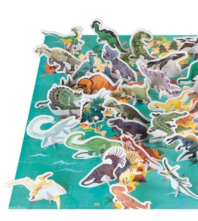 dinosaurios puzzle janod