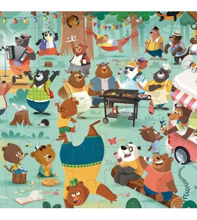 poster puzzle familia osos