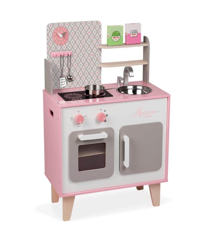 cocinita blanca y rosa janod