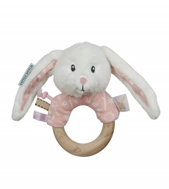 sonajero anillo conejo adventure rosa little dutch
